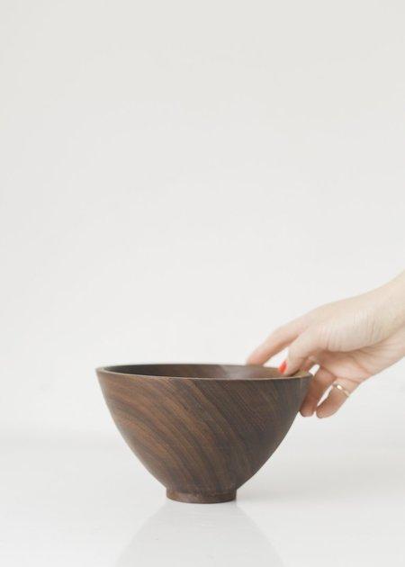 Elise McLauchlan Large Walnut Round Bowl