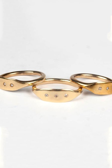 Gabriela de la Vega Ring - Brass/Diamond