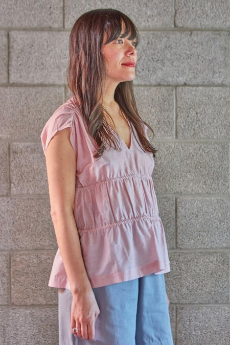M.Patmos Lotus Silk Cotton Shirt - Mauve