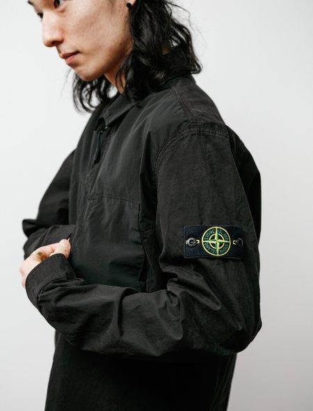 Stone Island Twill Zip Overshirt - Black