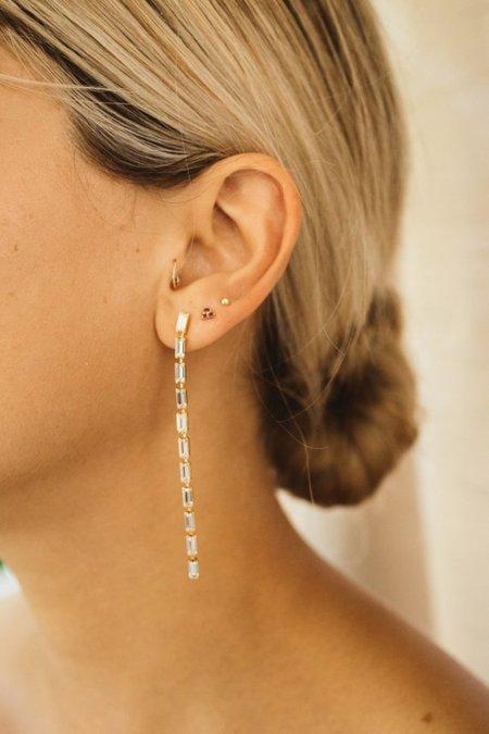 Jurate Brown Dear Earrings - Turquoise