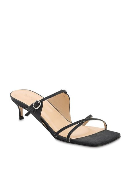 BY FAR Candy Semi Patent Leather Sandals - Black