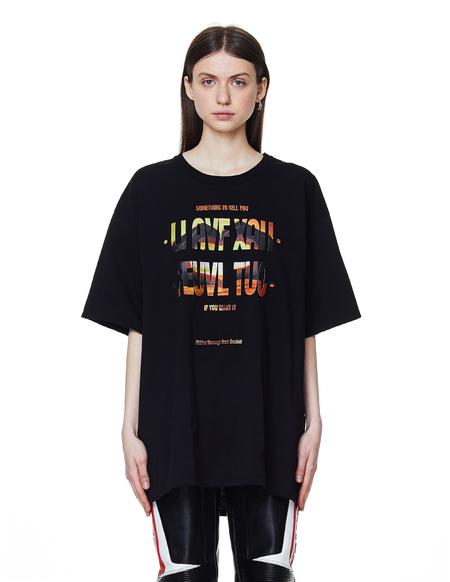Doublet  Cotton Hidden Message T-Shirt - Black