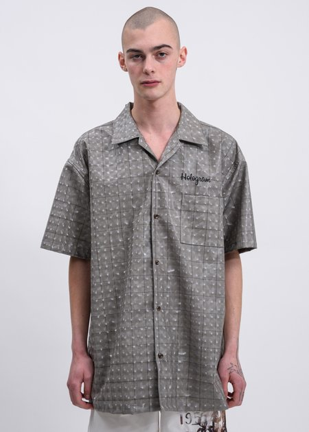 Doublet Hologram Coating Shirt - Beige