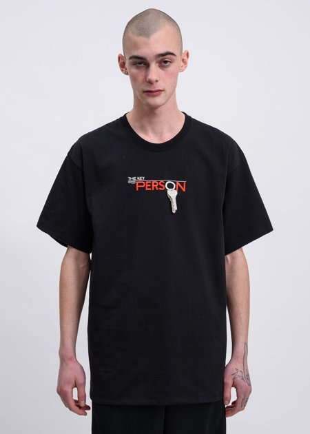 Doublet Key Person Embroidery T-Shirt - Black