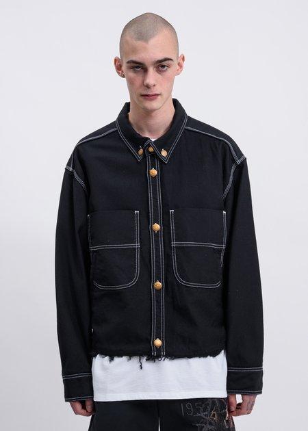 Doublet Heavy Twill Cut Off Jacket - Black