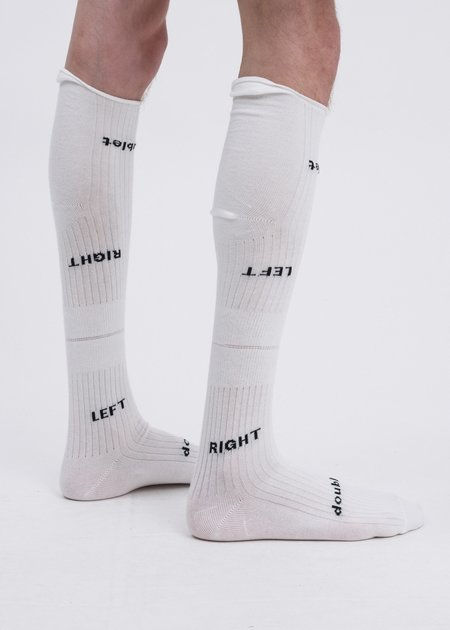 Doublet Left And Right High Socks - White