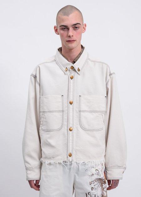 Doublet Heavy Twill Cut Off Jacket - White