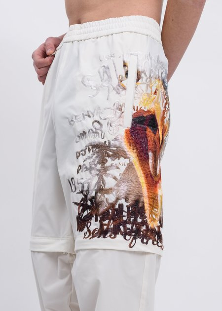 Doublet Printed Chaos Embroidery Two Way Pants - White