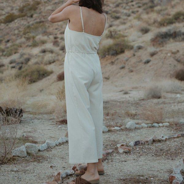Ozma Cypress Silk Noil Playsuit - Natural