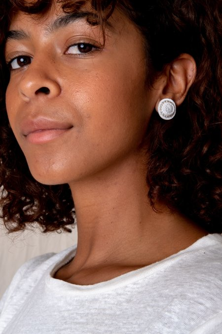 Robin Mollicone Stud Earrings - White Howlite
