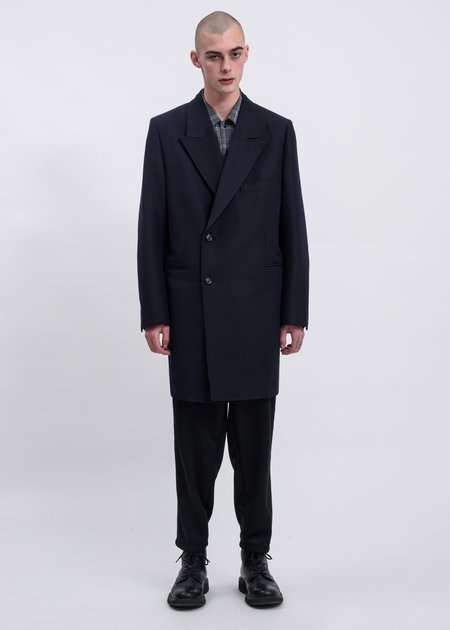 Doublet  Pe/W Hand-Painted Long Tailored Jacket - Navy