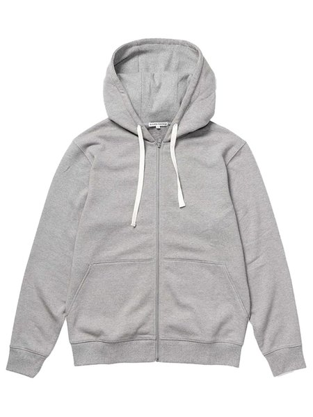 Richer Poorer Fleece Zip Hoodie - Light Heather Grey
