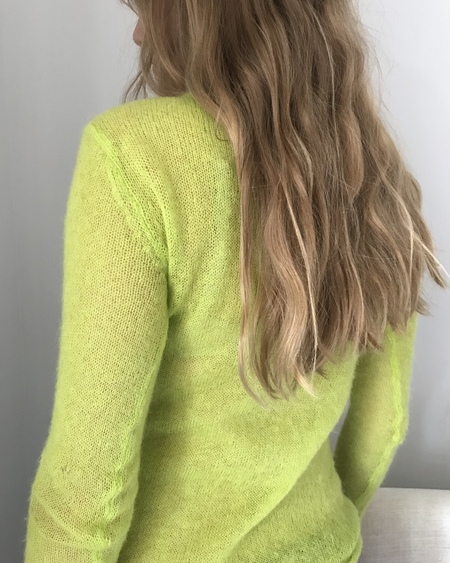VINTAGE Neon Green Sheer Sweater 1990's
