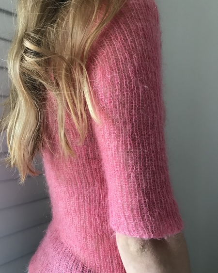 VINTAGE Mohair Pink 1990's Sheer Sweater
