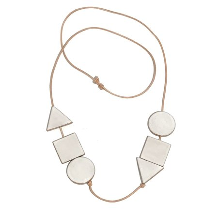 Julie Moon Multi Shaped Necklace - White