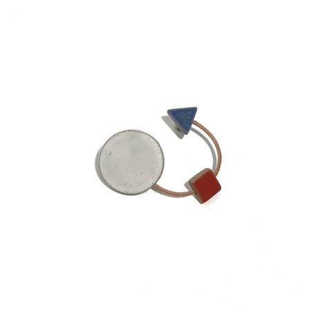Julie Moon Shape Brooch 3 Shapes - White/Blue/Red