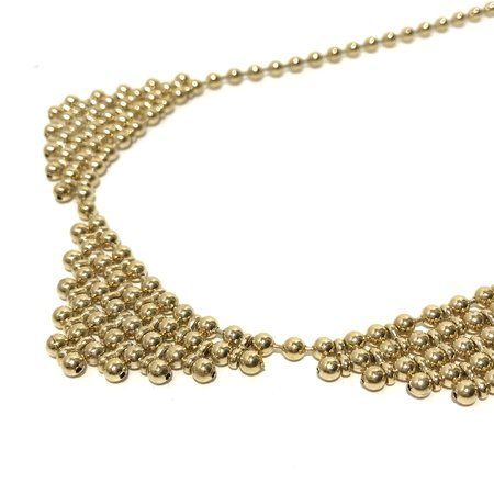 PAR ICI Triple Bib Necklace - 22K Gold Electroplate