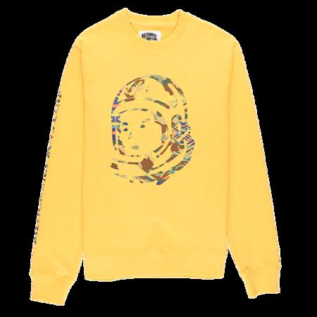 Billionaire Boys Club Camo Helmet Crewneck - Buff Yellow