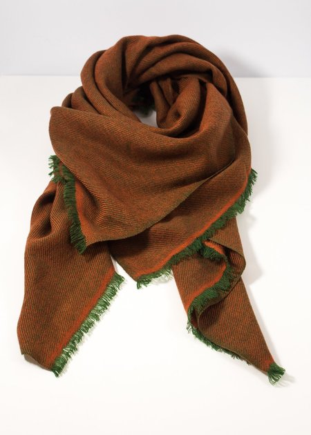 Iris Delruby Changeant Scarf - Orange/Green