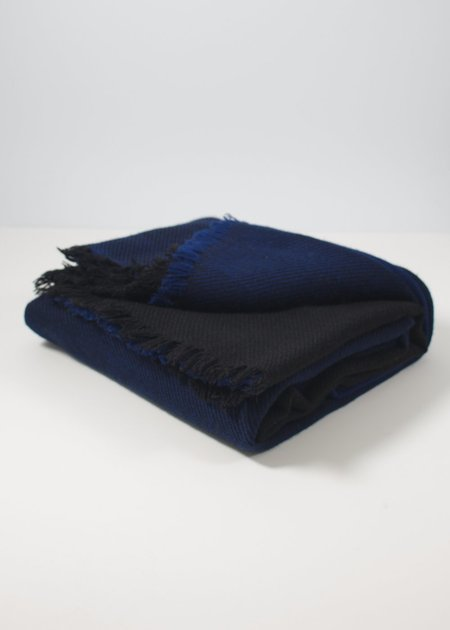 IRIS DELRUBY Horizon scarf - black / deep blue