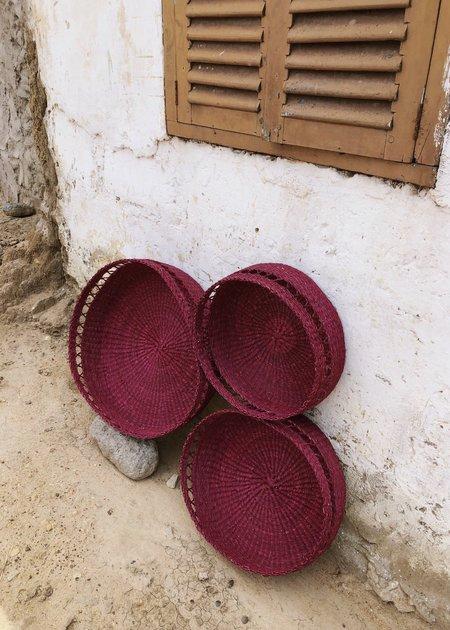 KATHRIN ECKHARDT netting bowl basket - plum