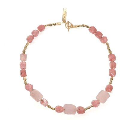 Marijke Bouchier BOHO Necklace - Chunky Pink