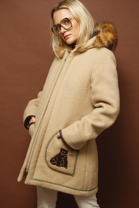 Vintage Eskimo Wool Hooded Coat