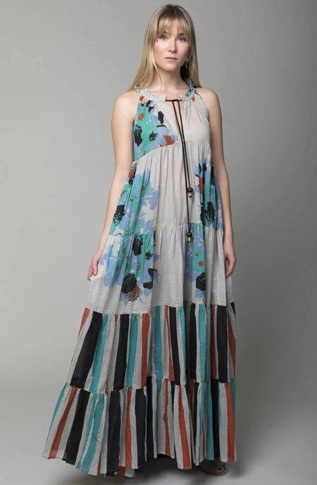 Yvonne S Sleeveless Maxi Hippy Dress - Big Flower