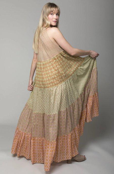 Yvonne S Sleeveless Maxi Hippy Dress - Pistachio