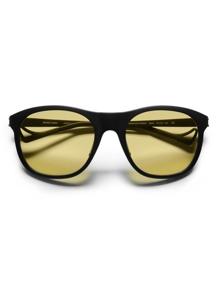 District Vision Nako Black Sunglasses - Yellow