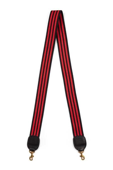 Clare V. Crossbody Strap - Black/Red