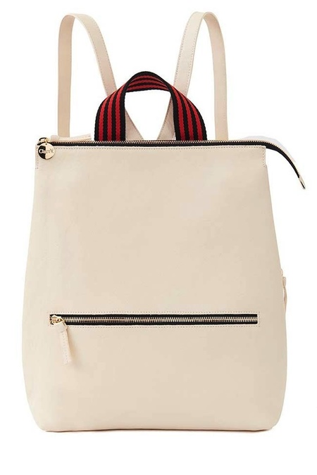 Clare V. Remi Backpack - Rustic White