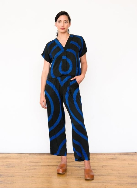 Seek Collective Sukie Pant - deep emerald echo print