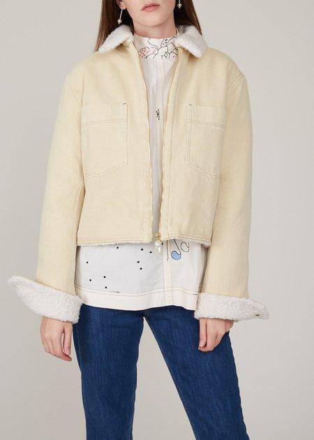 NANUSHKA Bae Jacket - Cream Denim