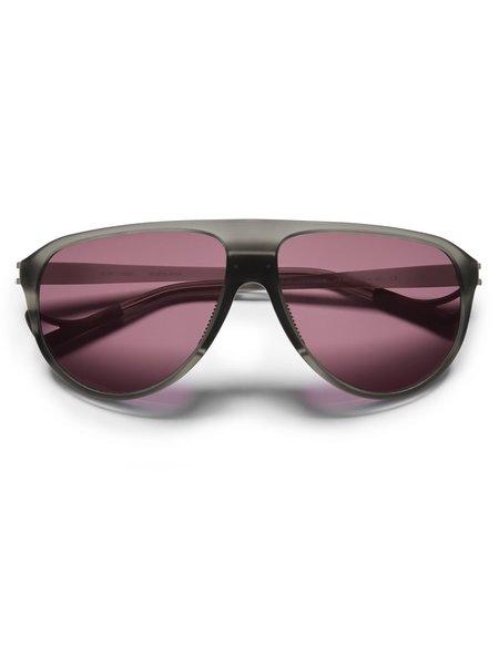 District Vision Yukari Gray Sunglasses - Black Rose