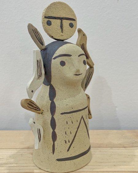 Heidi Anderson Ceramics Small Protector With Dots - Cream