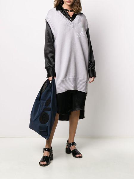 MM6 Maison Margiela Sleeveless Knitted Jumper - light grey