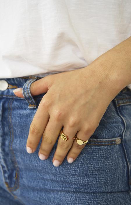 Eyland Alexia Pink Ring - Gold