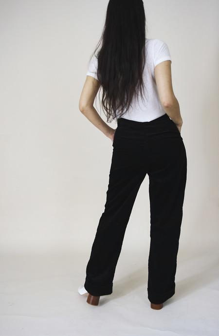 YUKA PARIS Paco Corduroy Trousers -  Black