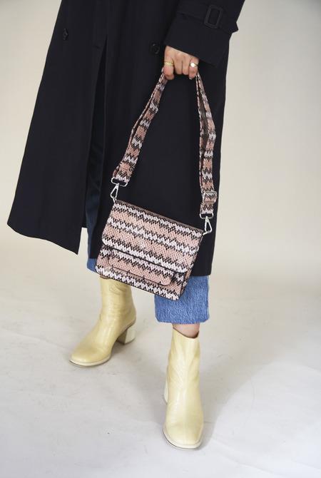 HVISK Cayman Pocket crossbody bag - Pink Snake Print