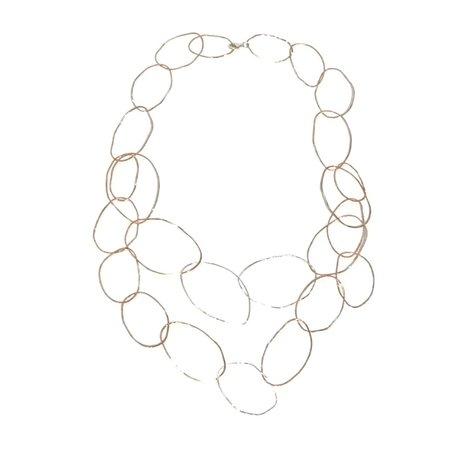 Patsy Kolesar Double Strand Copper Links Necklace