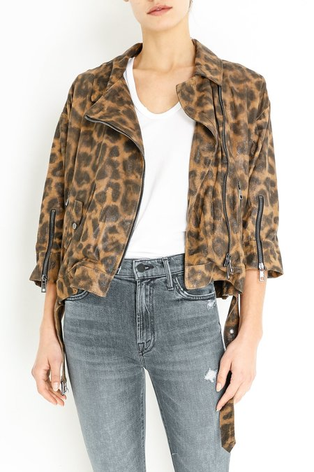 Giorgio Brato Leather Jacket - Leopard