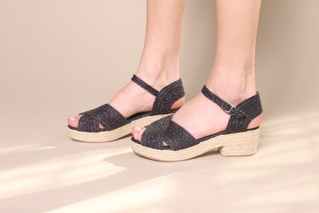 """""""INTENTIONALLY ______."""" Coco Sandal - Black"""