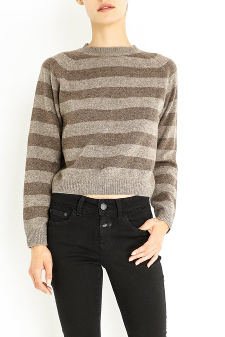 Aspesi & Co Stripe Sweater - Grey