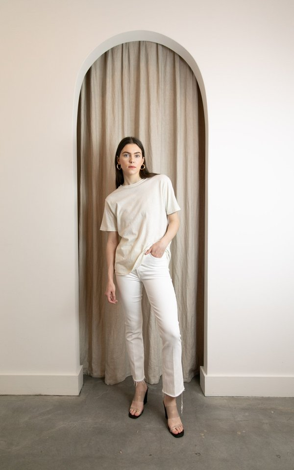 Mother Denim Hustler Ankle Fray Jeans - Fairest of them all