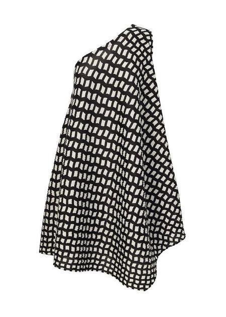 Pleats Please Issey Miyake Step One Shoulder Dress - Black/White