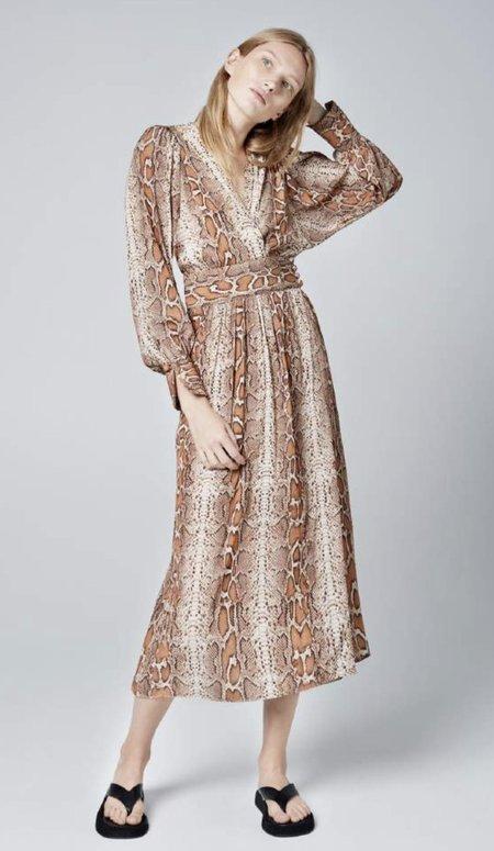 Smythe Wrap Dress - Desert Snake