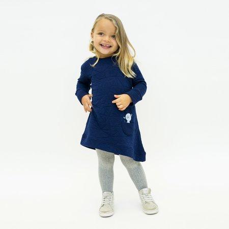 Kids Bash+Sass Asymmetric Quilted Dress - Deep Blue