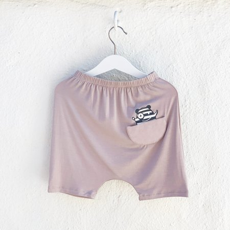 Kids Unisex Bash+Sass Hammer Shorties - Mocha